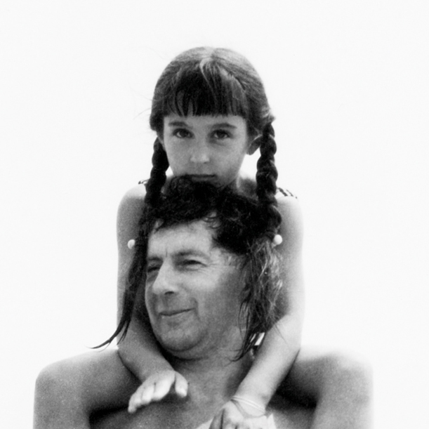 James Beveridge and daughter Nina at North Carolina's Okracoke Island